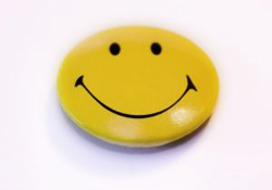 smiley-face button