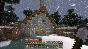 The A-frame house at my spawn point.
